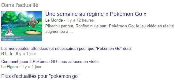 Actualités Pokemon Go