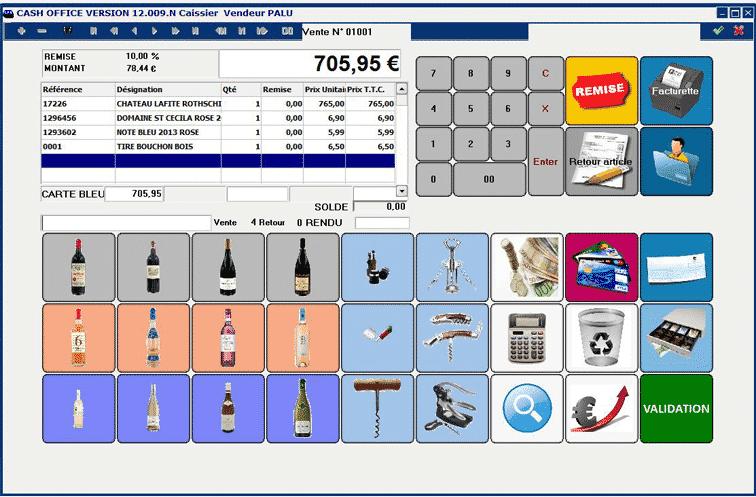 logiciel caisse enregistreuse tactile